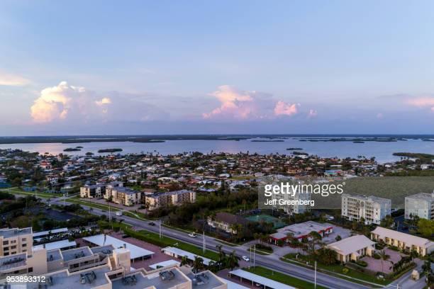Florida Fort Myers Beach Estero Island Estero Boulevard aerial view residential apartment buildings