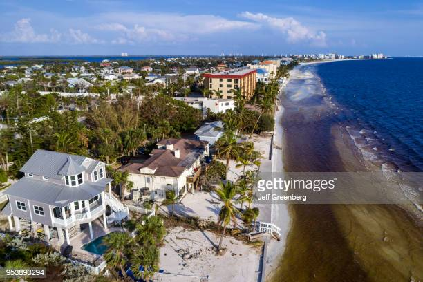 Florida Fort Myers Beach Estero Island Gulf of Mexico aerial view above residential apartment buildings
