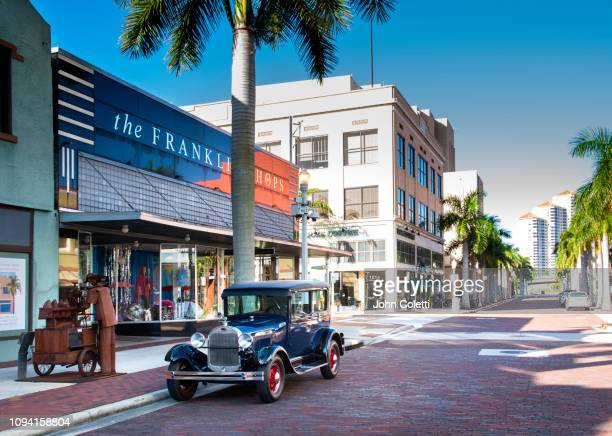 florida, fort myers, downtown, 1928 ford model a - フォートマイヤーズ ストックフォトと画像