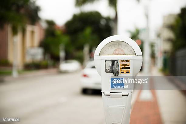 usa, florida, fort myers, parking meter - parking meter stock photos and pictures