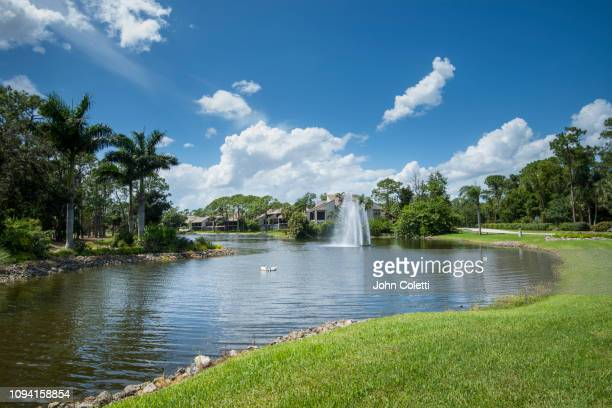 florida, fort myers, residential neighborhood - fort myers stock pictures, royalty-free photos & images