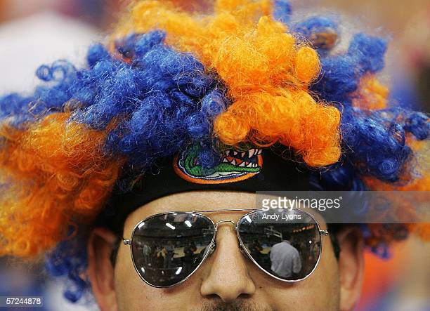 Florida Gators fan looks on before the start of the National Championship game against the UCLA Bruins of the NCAA Men's Final Four on April 3, 2006...