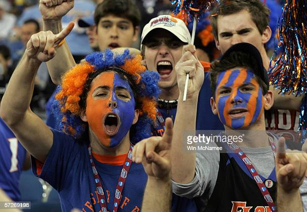 Florida Gators fans cheer during the game against the UCLA Bruins during the National Championship game of the NCAA Men's Final Four on April 3, 2006...