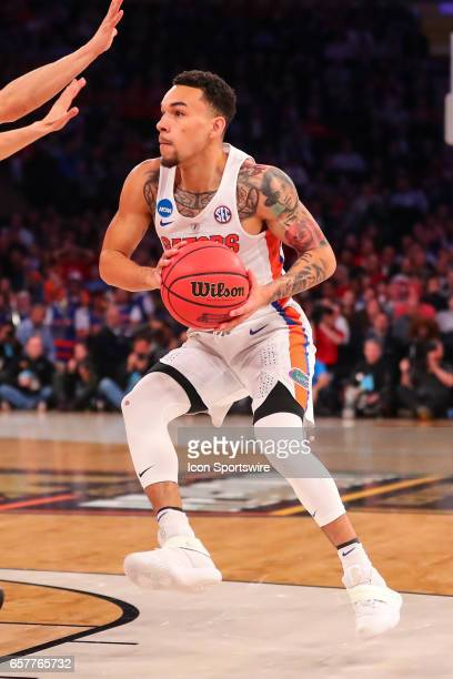 Florida Gators guard Chris Chiozza during the first half of the 2017 NCAA Men's Basketball Tournament East Regional at Madison Square Garden between...