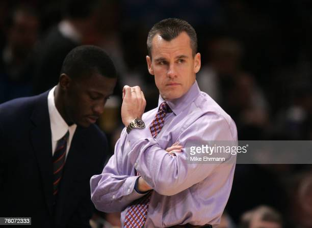 Florida Gators head coach Billy Donovan during a pre-season NIT basketball game against the Wake Forrest Demon Deacons at the Coaches vs Cancer...