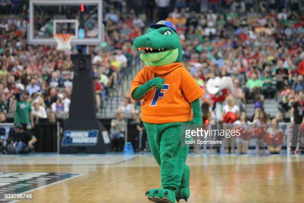 Florida Gators mascot performs during the NCAA Div I Men's Championship Second Round basketball game between Florida and Texas Tech on March 17 2018...