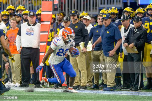 Florida Gators running back Lamical Perine during the ChickfilA Peach Bowl between the Michigan Wolverines and the Florida Gators on December 29 2018...