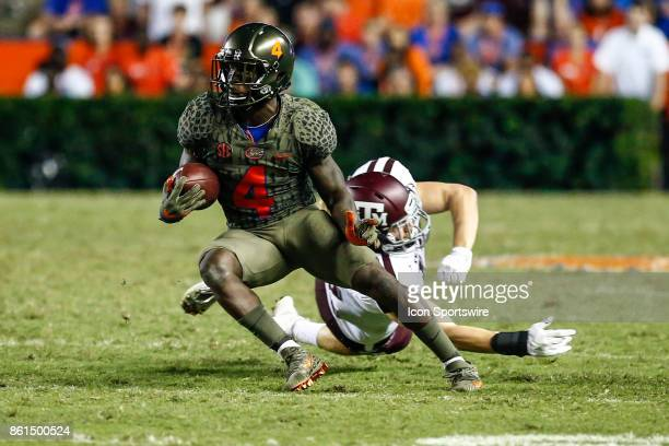 Florida Gators wide receiver Brandon Powell runs with the ball during the game between the Texas AM Aggies and the Florida Gators on October 14 2017...