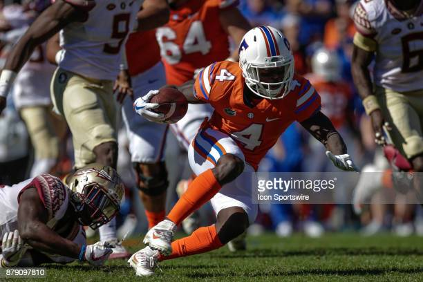 Florida Gators wide receiver Brandon Powell runs with the ball during the game between the Florida State Seminoles and the Florida Gators on November...