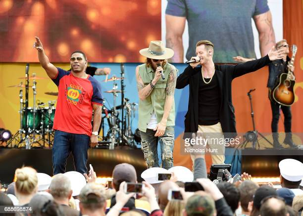 """Florida Georgia Line & Nelly Perform On ABC's """"Good Morning America"""" at Rumsey Playfield, Central Park on May 26, 2017 in New York City."""