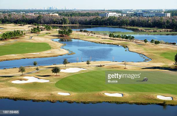 florida golf course - florida landscaping stock pictures, royalty-free photos & images
