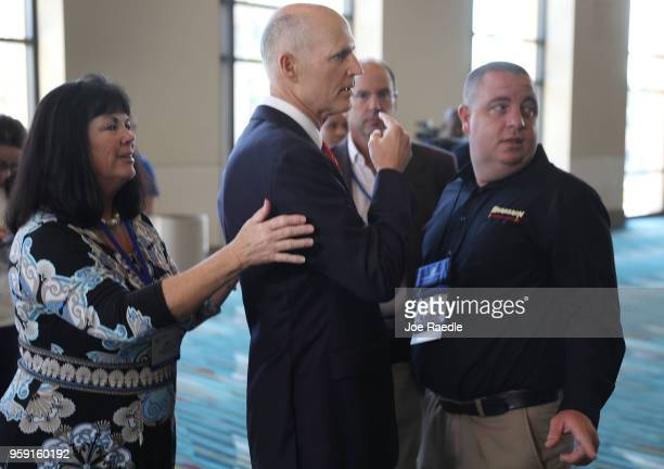 Florida Governor Rick Scott attends the Governor's Hurricane Conference at Palm Beach County Convention Center on May 16 2018 in West Palm Beach...