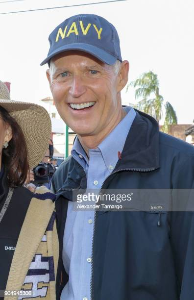 Florida Governor Rick Scott is seen at the 2018 Three Kings Day Parade on January 14 2018 in Miami Florida