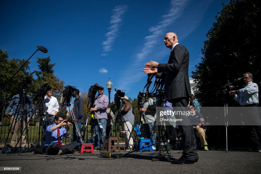 Florida Governor Rick Scott Speaks To The Media At The White House