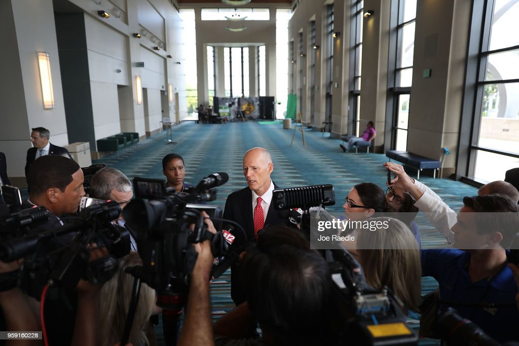 Governor Scott Speaks At Hurricane Conference In West Palm Beach : News Photo