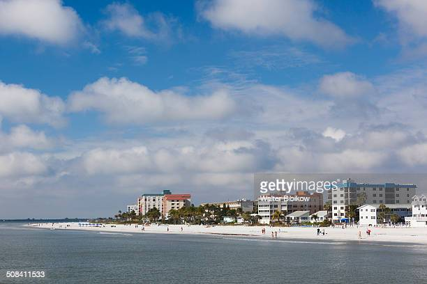 usa, florida, gulf coast, fort myers beach - fort myers beach stock photos and pictures