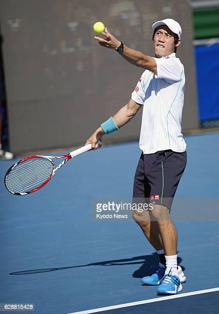 BEACH Florida Japan's Kei Nishikori plays against Teymuraz Gabashvili of Russia in the secondround match of the Delray Beach Open tennis event in...