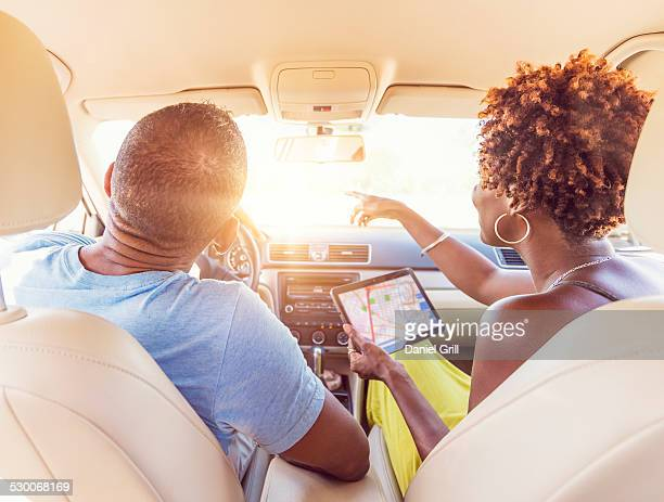 USA, Florida, Jupiter, Mature couple in car
