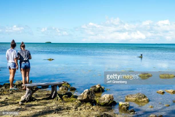 Florida Key Largo Florida Keys Wild Bird Center Laura Quinn Sanctuary Couple looking at Water