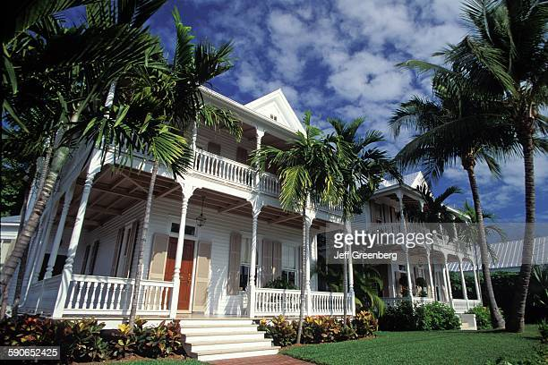 Florida Key WeSt Fleming Street Conch Mansions Victorian Queen Anne Style Architecture