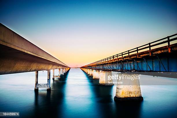 florida keys - seven mile bridge stock pictures, royalty-free photos & images