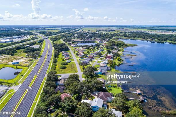 Florida, Kissimmee, Partin Settlement, Turnpike, Fish Lake and lakeside homes.