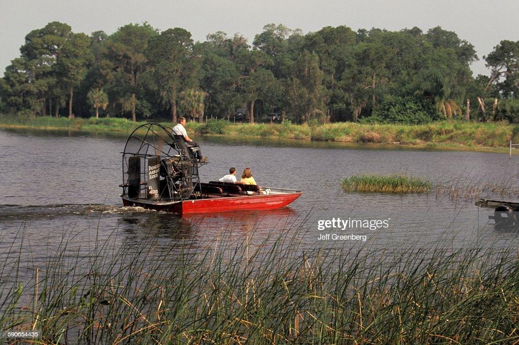 Florida, Lake Hamilton, Pioneer Airboat Rides  News Photo