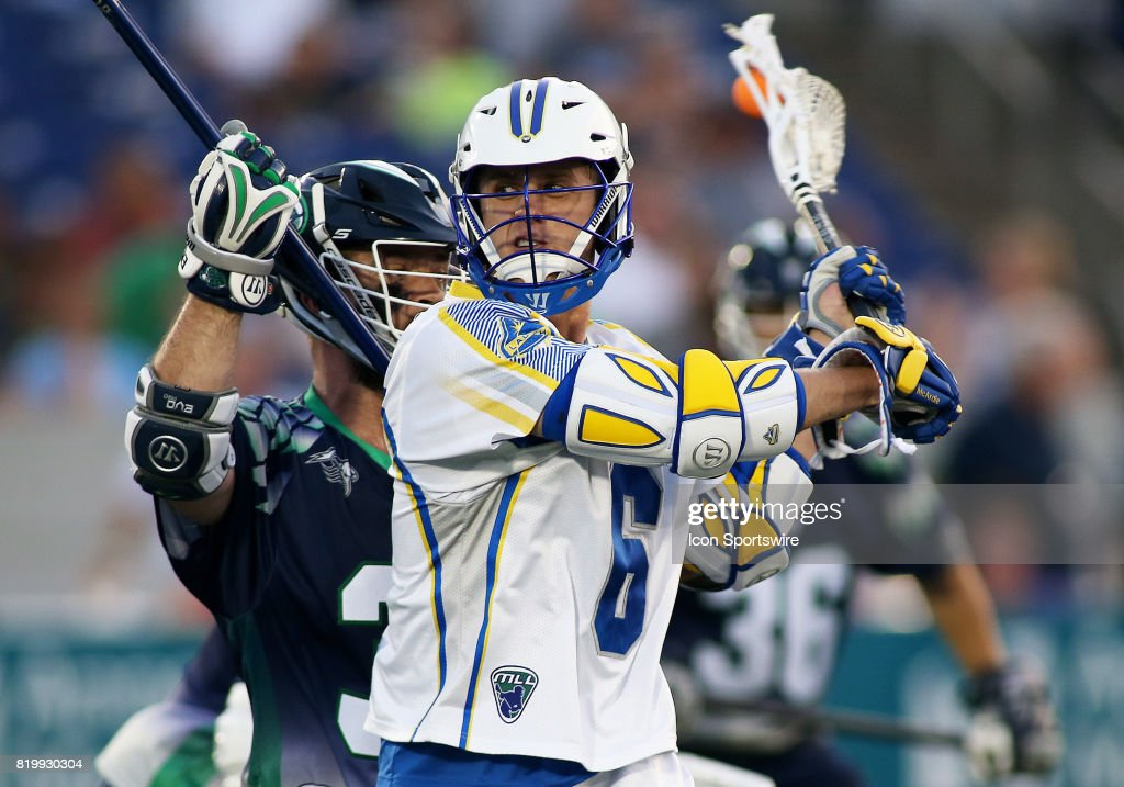 Florida Launch Kieran McArdle (6) in action during a match between the Chesapeake Bayhawks and the Florida Launch on July 20, 2017, at Navy-Marine Corps Memorial Stadium in Annapolis, Maryland.