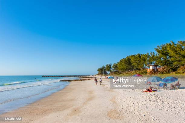florida (us) - manatee beach on anna maria island - anna maria island stock pictures, royalty-free photos & images