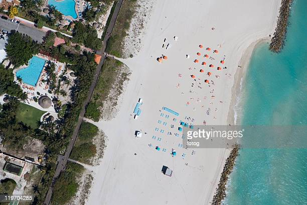 USA, Florida, Miami, Aerial view of sandy beach