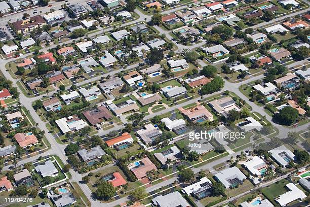 USA, Florida, Miami, Aerial view of suburban residential district