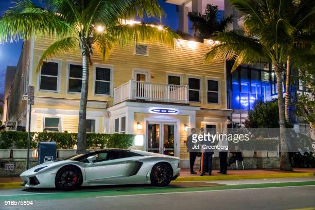 Florida Miami Beach Browns Hotel with Steakhouse and Sports Car