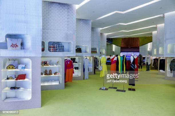 Florida Miami Beach Lincoln Road Mall Alchemist Store interior Clothing display