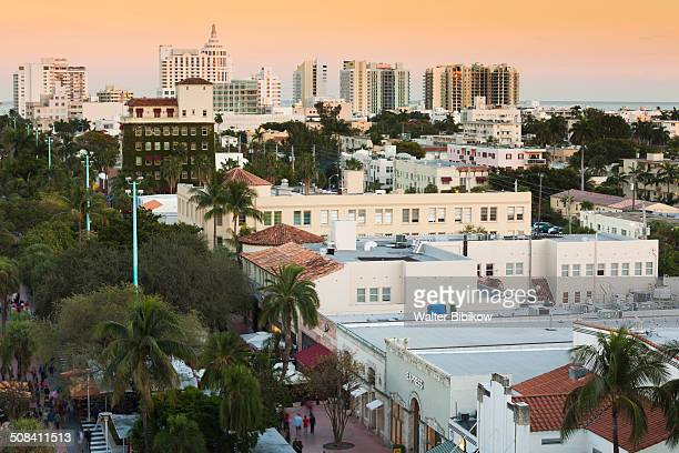 florida, miami beach, lincoln road - lincoln road stock pictures, royalty-free photos & images