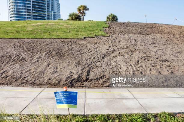 Florida Miami Beach South Pointe Park Turf Repair Project