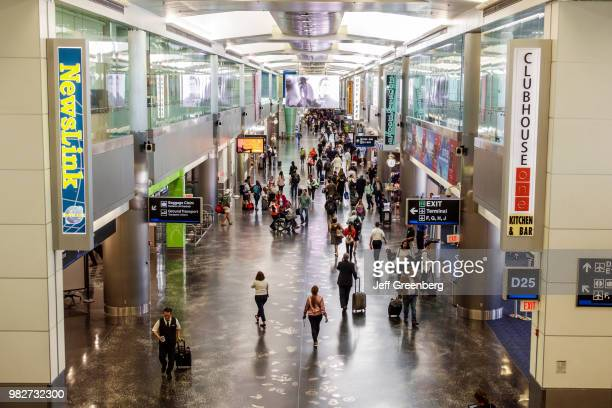 Florida Miami International Airport crowded concourse