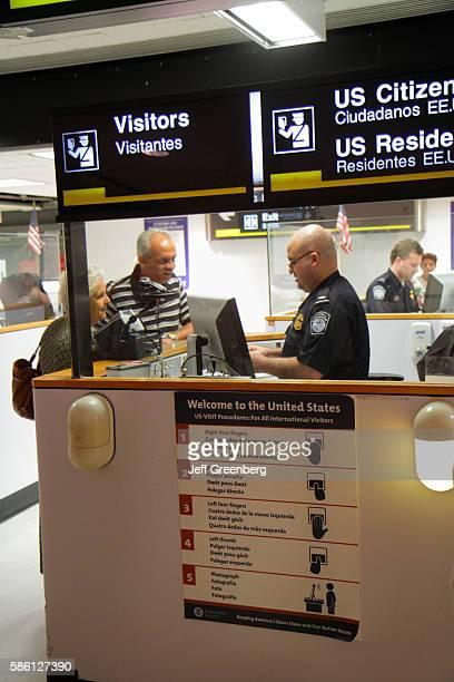 Florida Miami Miami International Airport arriving passengers entering Passport Control