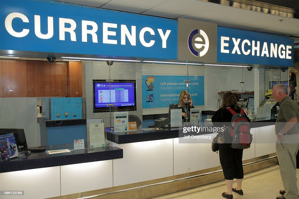 Miami International Airport Foreign Exchange Brokers News Photo