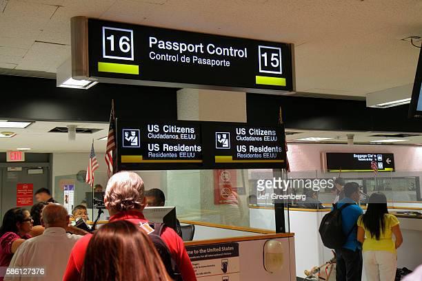 Florida Miami Miami International Airport passengers entering Passport Control