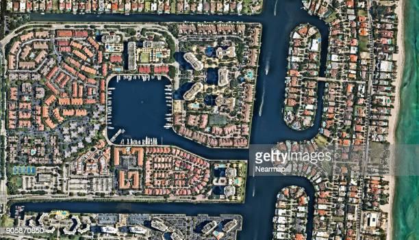 florida, miami - urban sprawl stock pictures, royalty-free photos & images