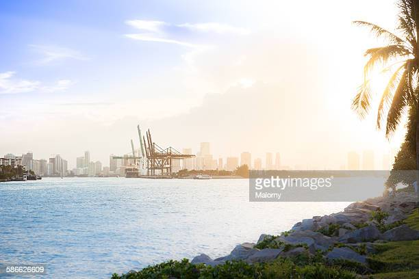 USA, Florida, Miami, Skyline And Harbor