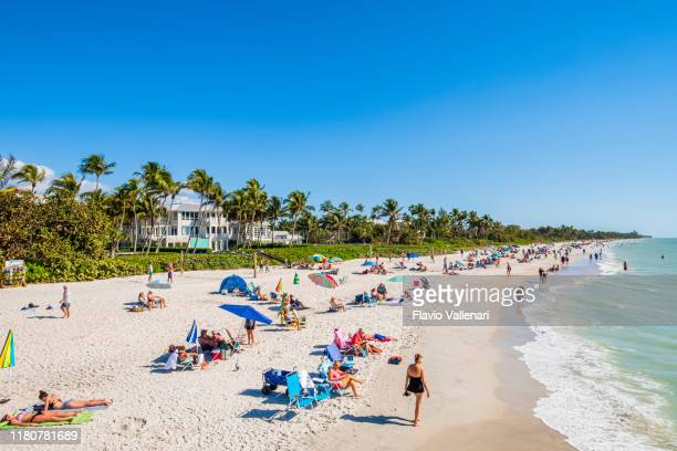 florida (us) - naples beach - naples florida stock pictures, royalty-free photos & images