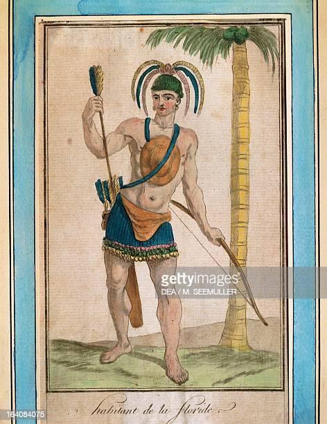 Florida native Drawing 18th century Paris Musée National Des Arts Africains Et Oceaniens