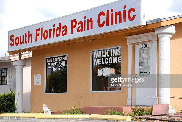 NBC NEWS Florida Pain Clinics Pictured Pain clinics are plentiful in south Florida with nearly 100 in Broward County alone WHile many clinics are...