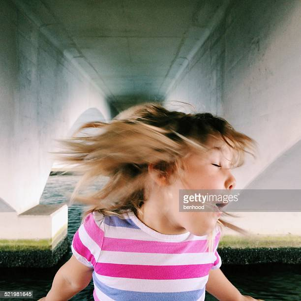 USA, Florida, Palm Beach County, West Palm Beach, Girl (2-3) shaking head
