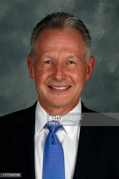 Florida Panthers Assistant Coach Mike Kitchen poses for his official headshot for the 2019-2020 NHL season on September 24, 2019 at the BB&T Center...