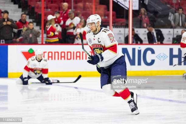 Florida Panthers Center Aleksander Barkov during warmup before National Hockey League action between the Florida Panthers and Ottawa Senators on...