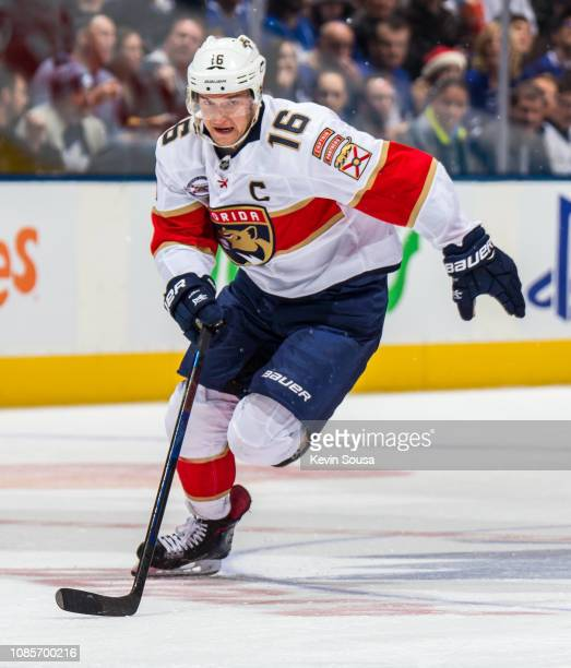 Florida Panthers center Aleksander Barkov skates against the Toronto Maple Leafs during the first period at the Scotiabank Arena on December 20 2018...