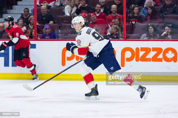 Florida Panthers Center Henrik Borgstrom skates after the play during first period National Hockey League action between the Florida Panthers and...