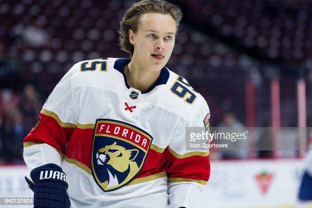 Florida Panthers Center Henrik Borgstrom skates during warmup before National Hockey League action between the Florida Panthers and Ottawa Senators...